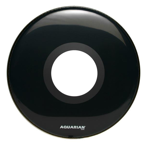 "Aquarian 22"" Ported Bass Drum Head Gloss Black by Aquarian"