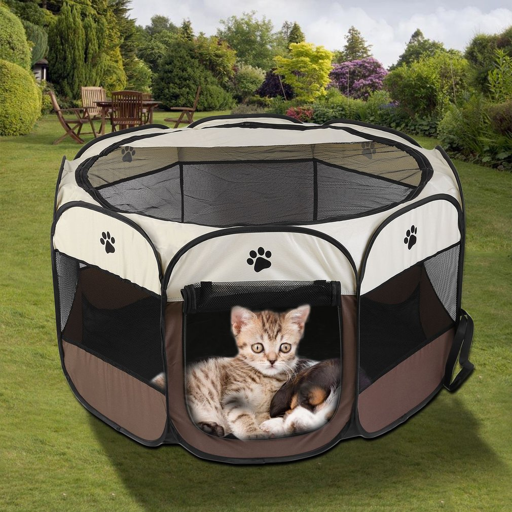 Pop-Up Pet Playpen with Canvas Carry Bag by PETMAKER