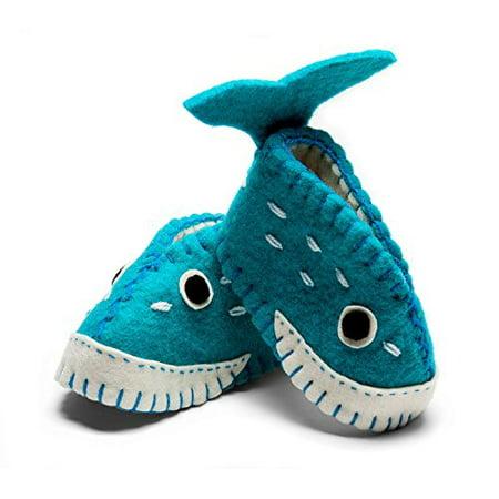 Silk Road Bazaar SRPN21-564113 Whale Zooties Baby Booties (Whale Slippers)