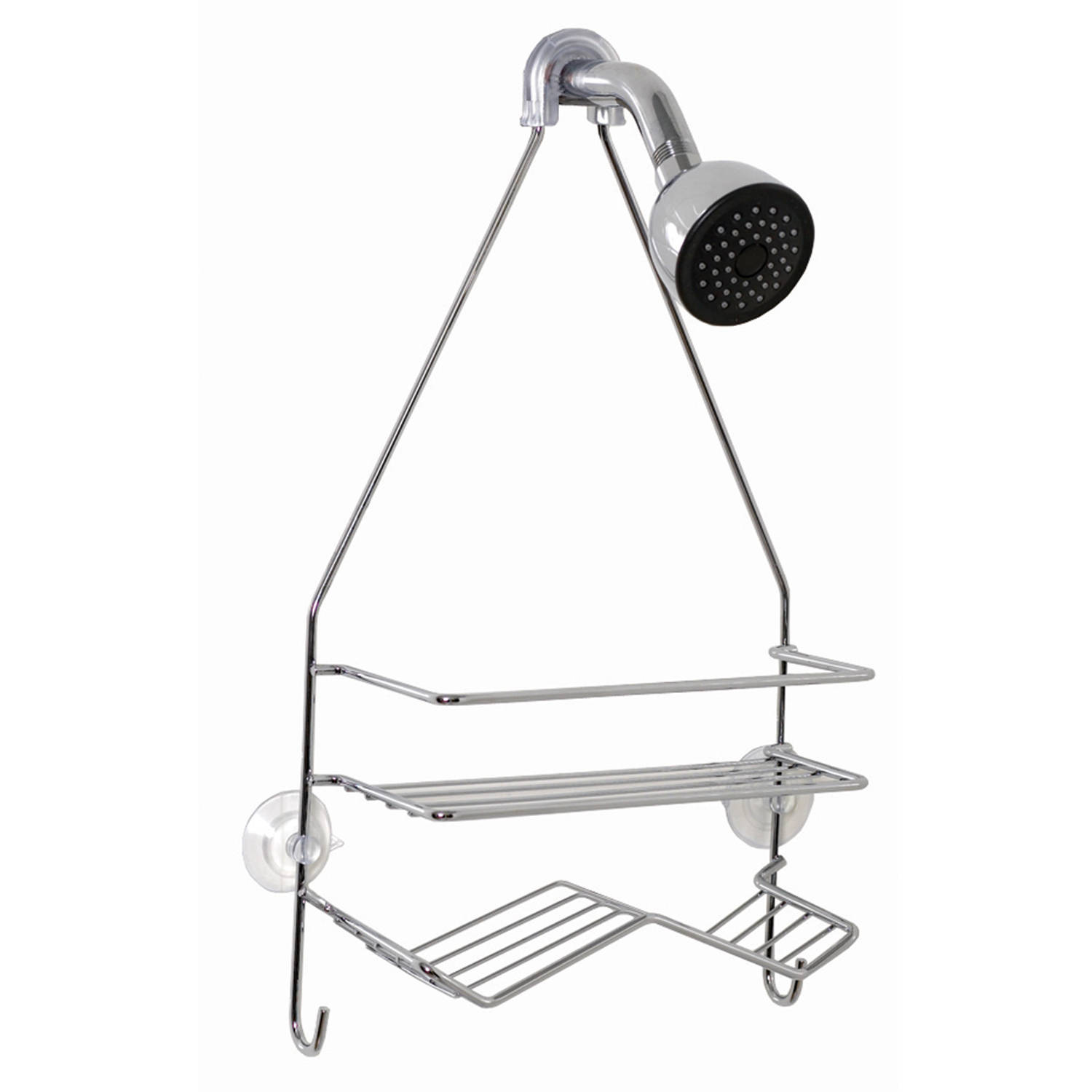 "Zenna Home 7518SS 10""W x 17.5""H x 3.63"" D Chrome Shower Caddy"