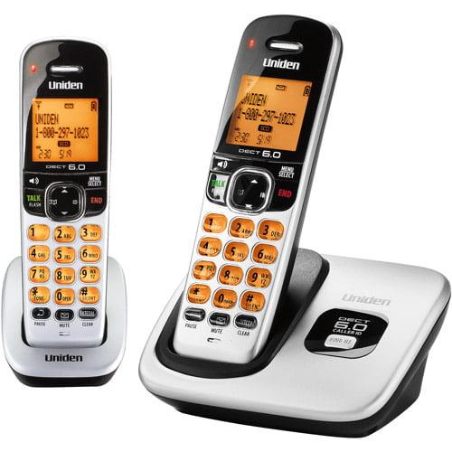 Uniden digital dect 6 0 cordless phone with 2 handsets walmart com