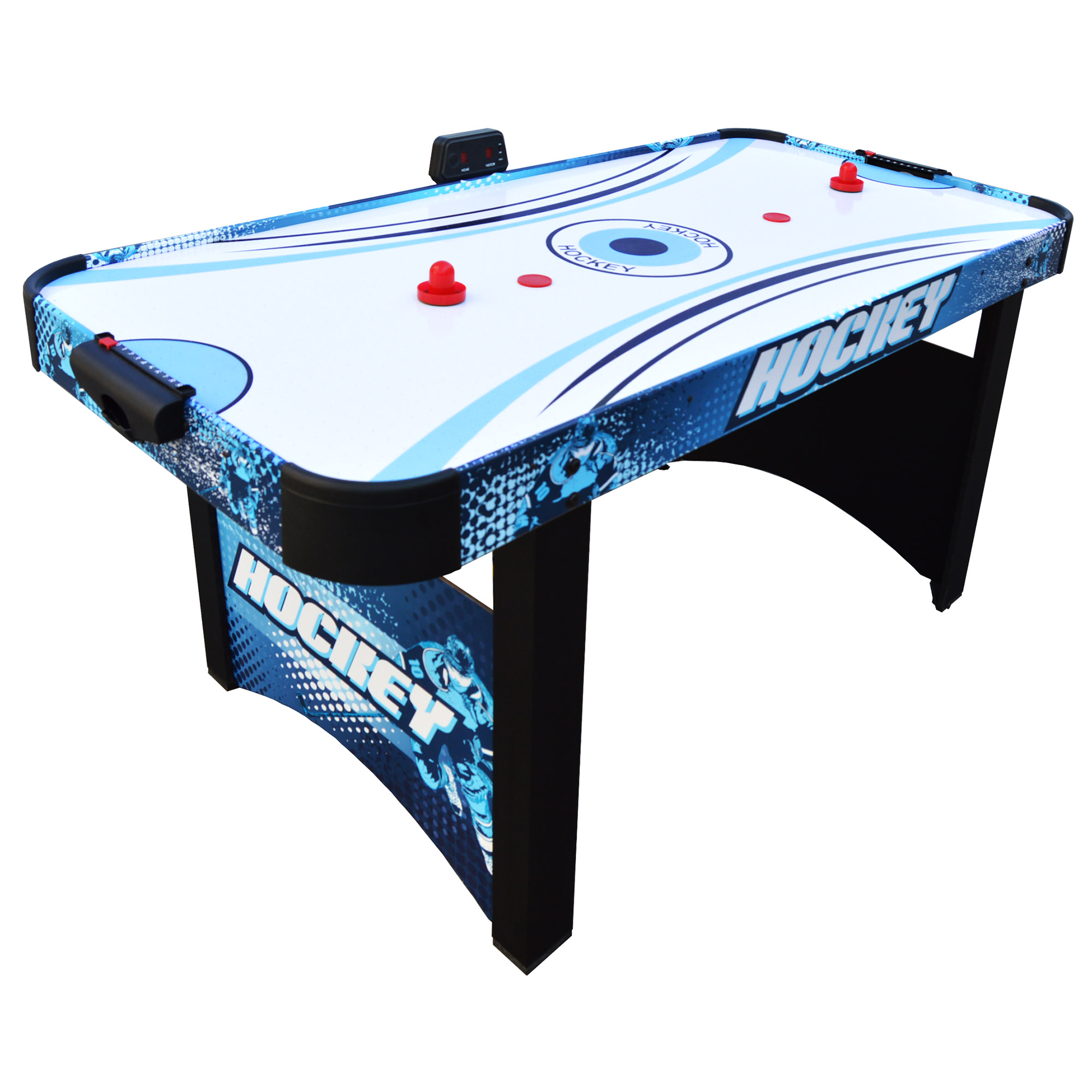 Hathaway Enforcer Air Hockey Table, 5.5-ft, Blue/Black
