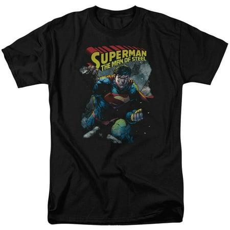 Superman Men's  Through The Rubble T-shirt Black