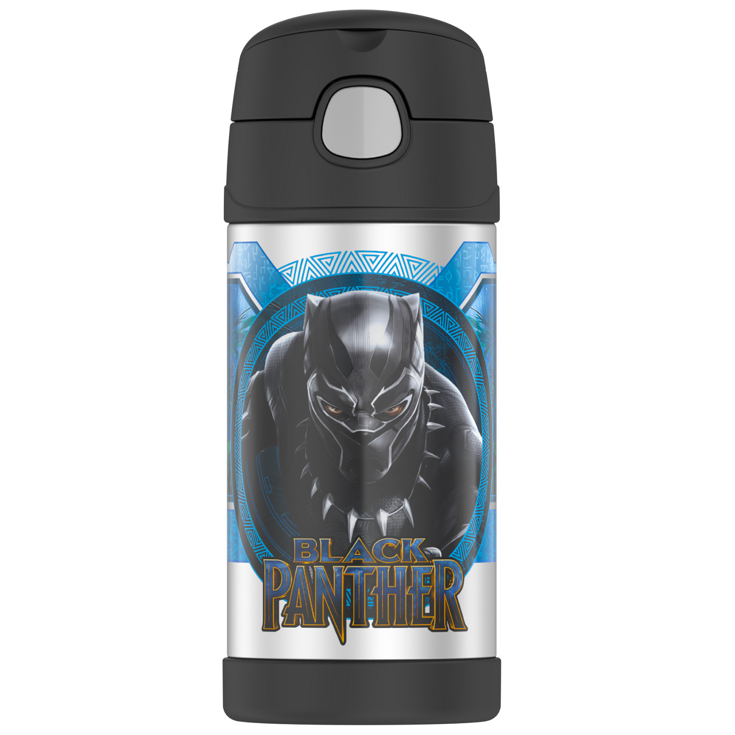Thermos FUNtainer 12-ounce Vacuum Insulated Stainless Steel Bottle (Black Panther)