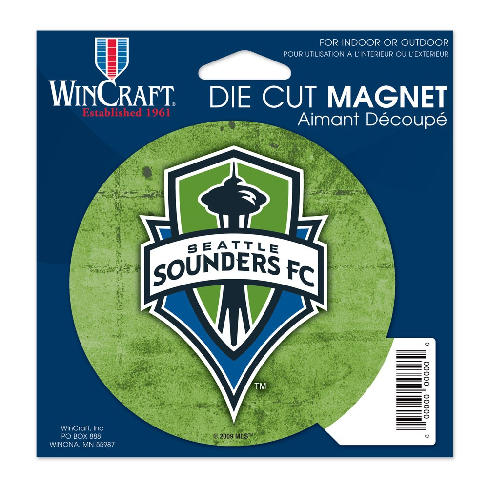 Seattle Sounders FC Official MLS 4.5 inch x 6 inch  Car Magnet by WinCraft