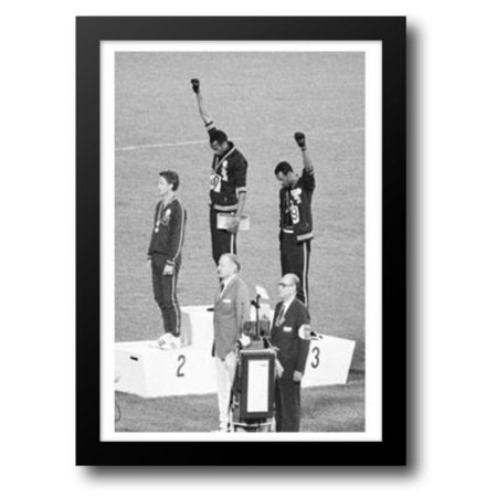 FrameToWall - 1968 Mexico Olympics - Black Power Salute 15x18 Framed Art