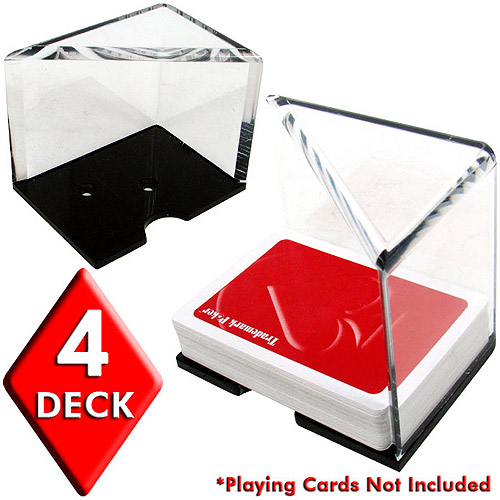 Trademark Poker 4 Deck Professional Grade Acrylic Discard Holder with Top