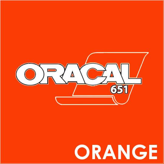 ORACAL 651 Vinyl Roll of Glossy Orange - Includes Free Multi-Purpose Squeegee - Choose Your Size