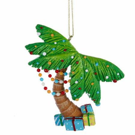kurt adler beach palm tree christmas ornament