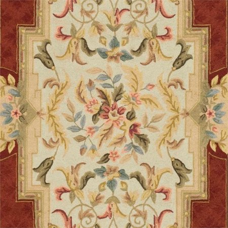 Safavieh DuraRug 2' X 3' Hand Hooked Rug in Ivory and Red - image 3 de 4