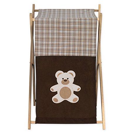 Baby and Kids Clothes Laundry Hamper for for Chocolate Teddy Bear Bedding, Dimensions: 26.5in. x 15.5in. x 16in. By Sweet Jojo Designs