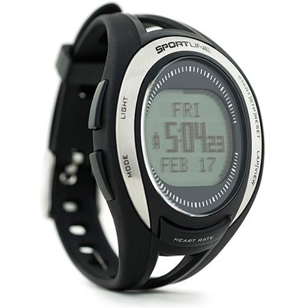 how to turn on heart rate on sportline watch