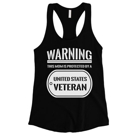 Women In The Army (Protected By Veteran Gift Womens Black Tank Top For Proud Army)