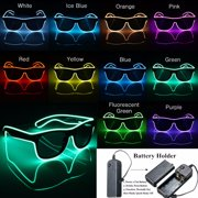 Light up LED Sun Glasses Wire Fashion Neon Luminous Club Party led Frame Eyewear Sunglasses