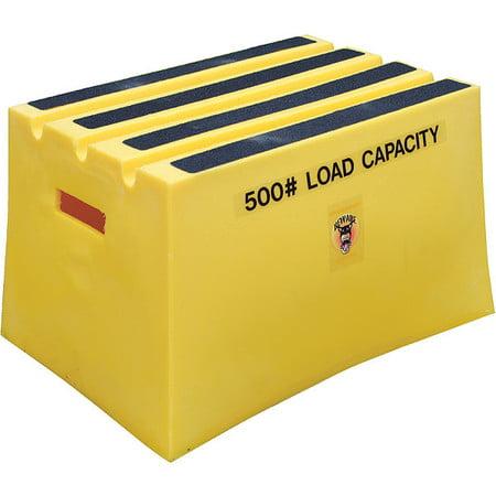 VESTIL VST-1-Y 1 Step, Polyethylene Step Stool,  Load Capacity, Yellow ()