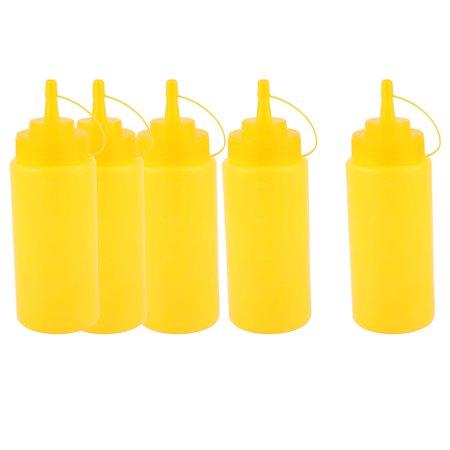 Salt Added Ketchup (5Pcs 400ml 16oz Kitchen Food Squeeze Bottles Condiment Ketchup Mustard Oil)