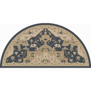 2' x 4' Elegant Caesar Slate Blue Gray and Champagne Beige Hearth Hand Tufted Wool Area Throw Rug