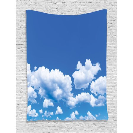 Apartment Decor Wall Hanging Tapestry, Floating Clouds In The Sky On A Sunny Day Summertime Natural Light Picture, Bedroom Living Room Dorm Accessories, Gift Ideas, By Ambesonne for $<!---->