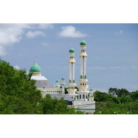 Water Village Mosque Bandar Seri Begawan Darussalam Brunei Borneo Canvas Art - Cindy Miller Hopkins DanitaDelimont (16 x 11)