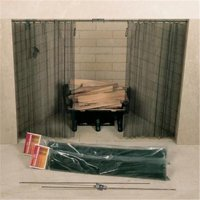 48in. X 18in. Fireplace Spark Screen - Rod Kit Not Included