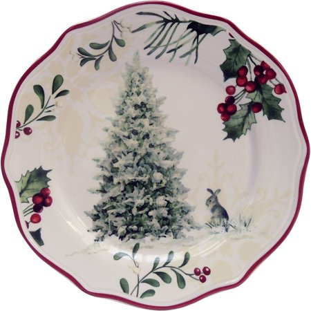 Better Homes Gardens Bhg Set Of 6 Tree Salad Plate