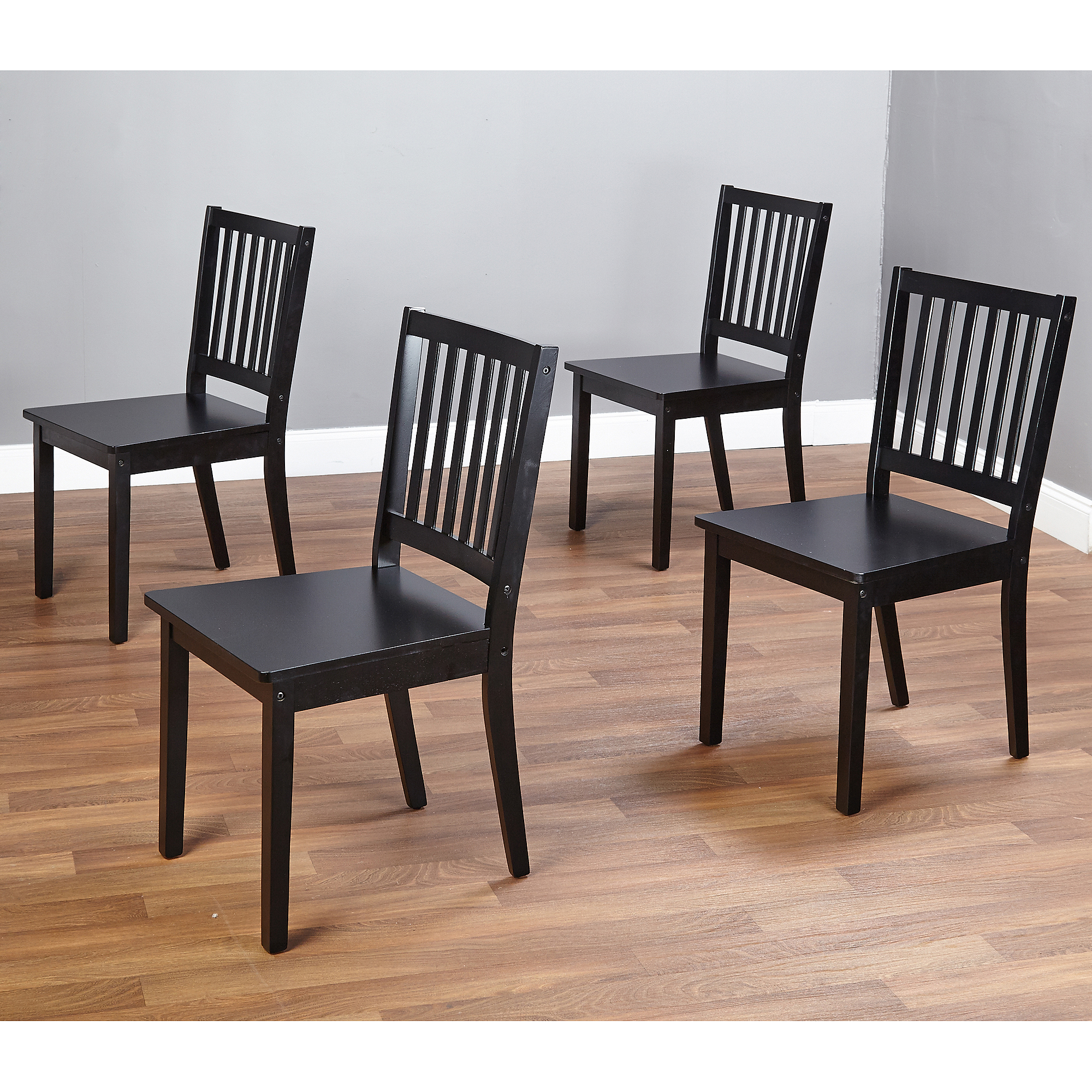 shaker dining chairs set of 4 espresso walmartcom - Set Of Dining Chairs