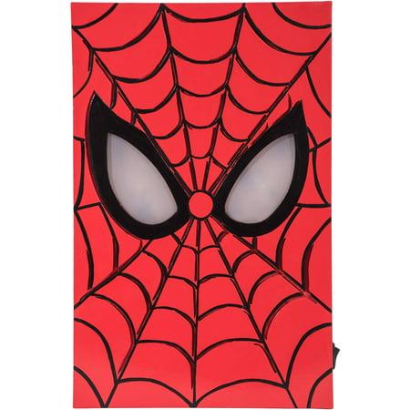 Marvel LED-Lit Hero Face MDF Box Art, Spider-Man - Spiderman Light Up Sneakers