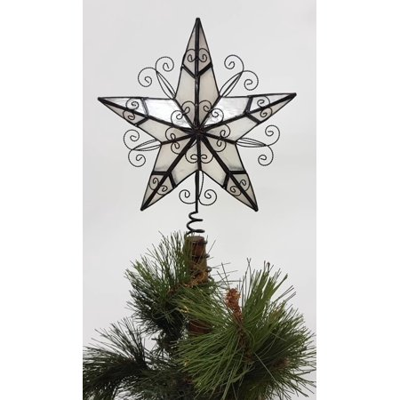 Holiday Time Capiz 5 Point Brown Star Tree Topper Walmart Com
