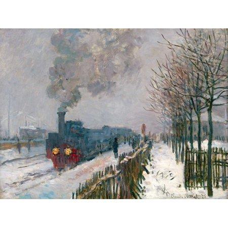 Le train dans la neige Poster Print by Claude Monet (22 x 28) (Le Monet Halloween)