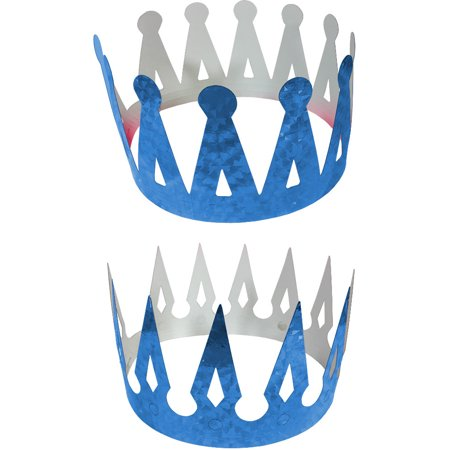 Renaissance Medieval Fantasy King Set Of 2 Blue Crowns Costume Accessory](Renaissance Crown)