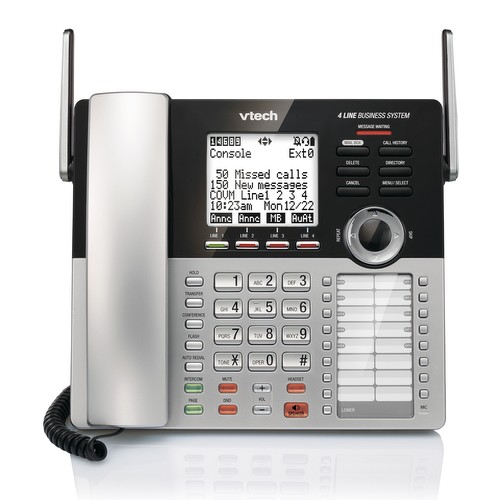 VTech 4-Line Small Business Phone System DECT 6.0 Expandable 4-Line Small Business Office Phone with Answering System by VTech