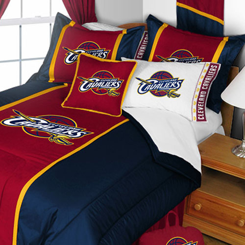 NBA Cleveland Cavaliers Comforter and Pillowcase Set Basketball Team Logo Bedding