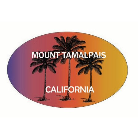 Mount Tamalpais California Trendy Souvenir Oval Decal