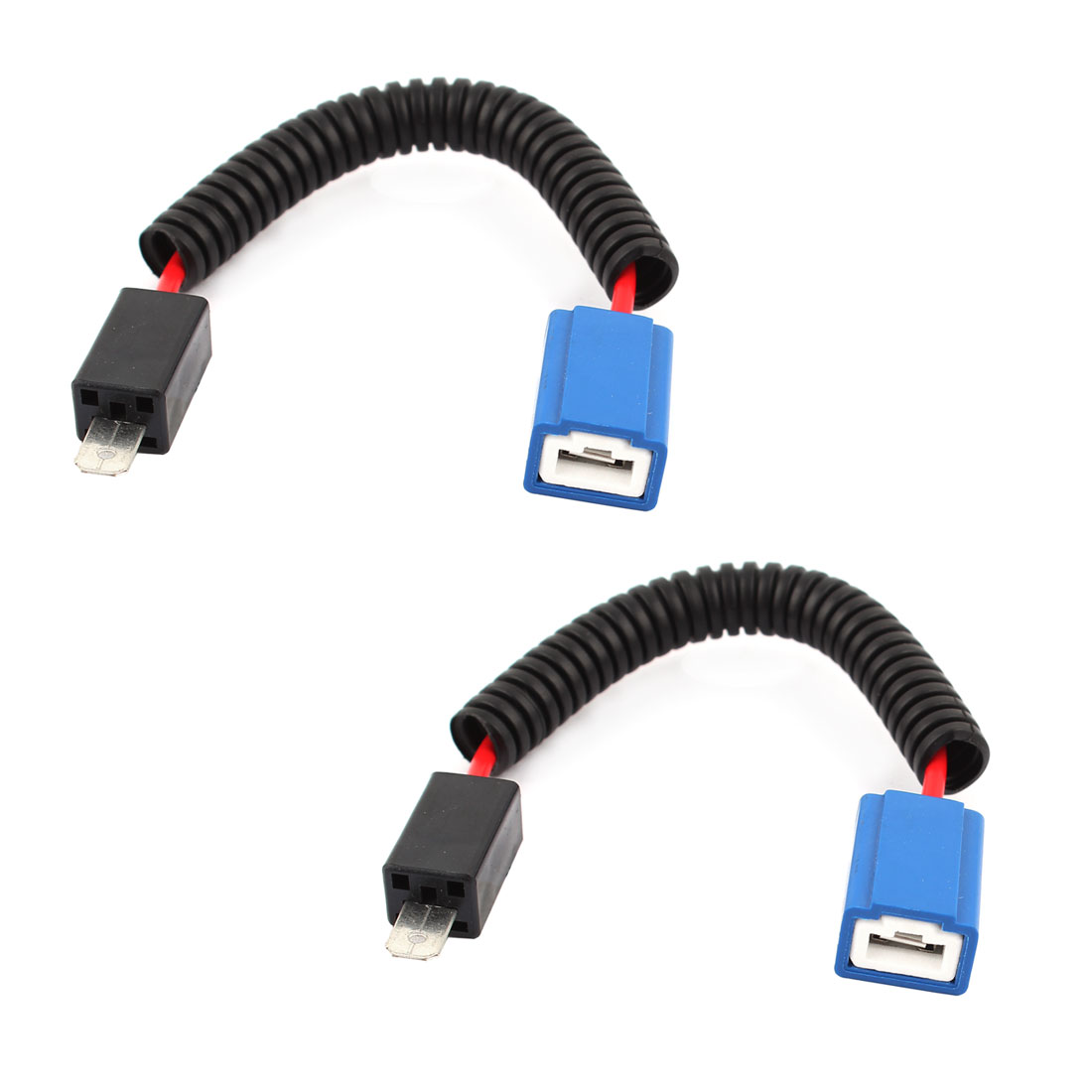 Male Female Connectors Wiring Harness Free Diagram For You Automotive Connector Unique Bargains H1 Fog Light Plugs