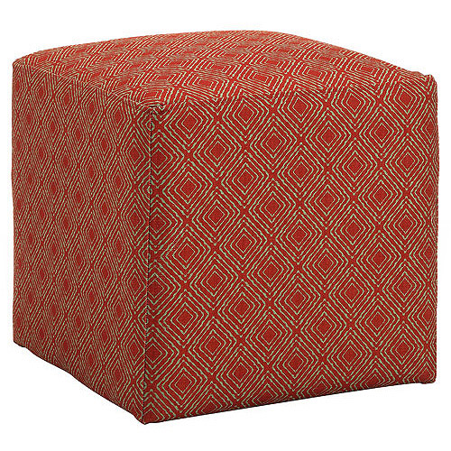 Allegro Gigi Cube Ottoman, Multiple Colors