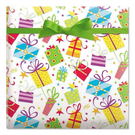 Surprise Package Birthday Jumbo Rolled Gift Wrap - 72 sq. ft. - Birthday Paper