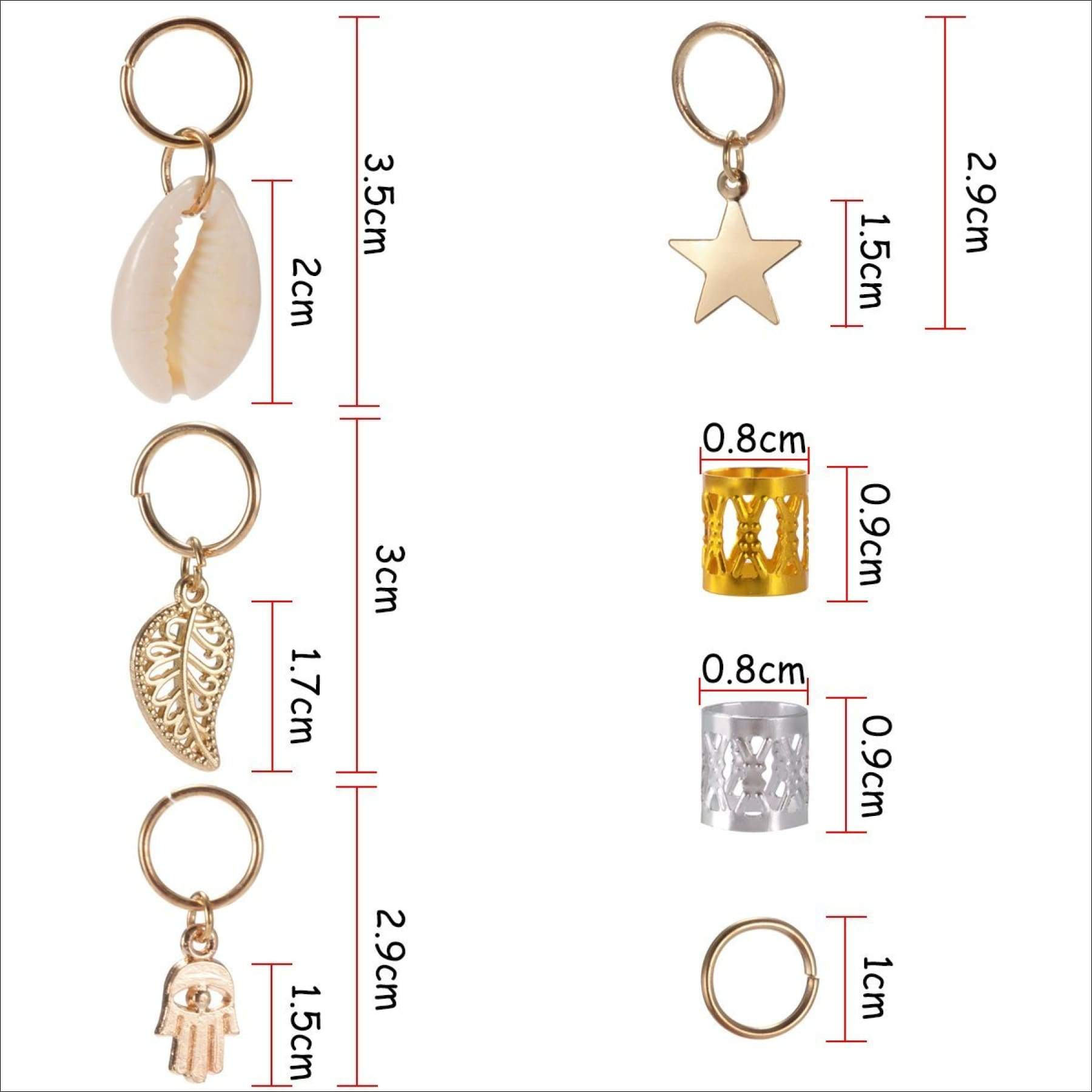 soulbay 80 pieces hair jewelry