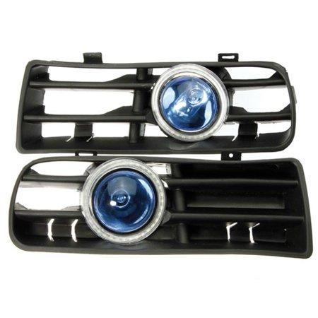 Bule LED Lower Bumper Grille Fog Light Angel Eyes Harness For VW Golf Bora  - image 4 of 9