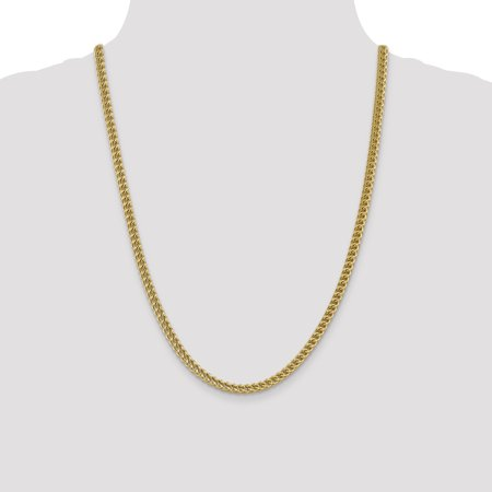 14k Yellow Gold 4.5mm Franco Chain Necklace 24 Inch Pendant Charm Figaro Fine Jewelry Gifts For Women For Her - image 3 of 9