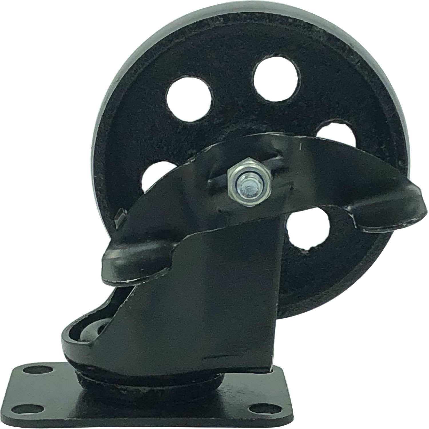 3 Combo FactorDuty 4 All Black Metal Swivel Plate Caster Wheels w//Brake Lock Heavy Duty High-Gauge Steel