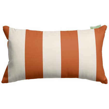 Majestic Home Goods Vertical Stripe Indoor Outdoor Small Decorative Throw Pillow ()