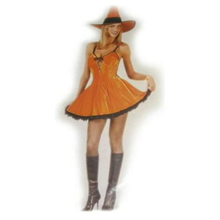 Orange Spice Witch Women's Halloween Costume Size Small/Medium (2-8) #5155 (Sporty Spice Costume)