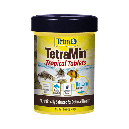Tetra TetraMin Tropical Tablets 1.69 Ounces, For Bottom Feeders