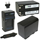 Wasabi Power Battery (2_Pack) and Charger for Canon BP_97...