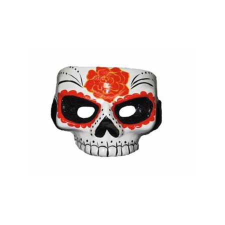 Day Of Dead Mask W/Glitter Black Eyes (Day Of The Dead Masks)