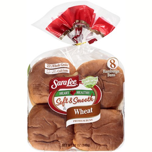 Sara Lee Soft & Smooth Wheat Hamburger Buns, 12 oz