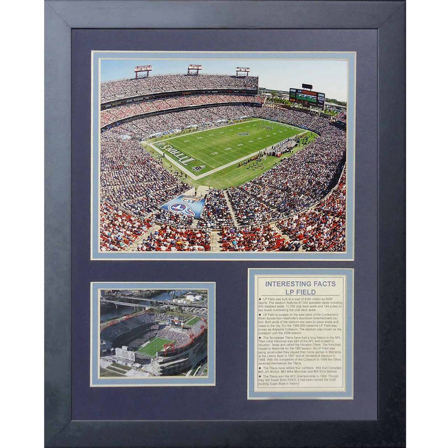 "Legends Never Die ""Tennessee Titans Stadium"" Framed Photo Collage, 11"" x 14"""
