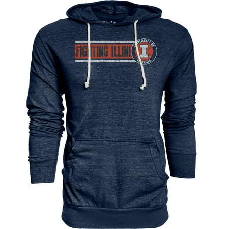 - Illinois Fighting Illini Adult NCAA Big Soft Story Hooded Long Sleeve Pullover - Navy