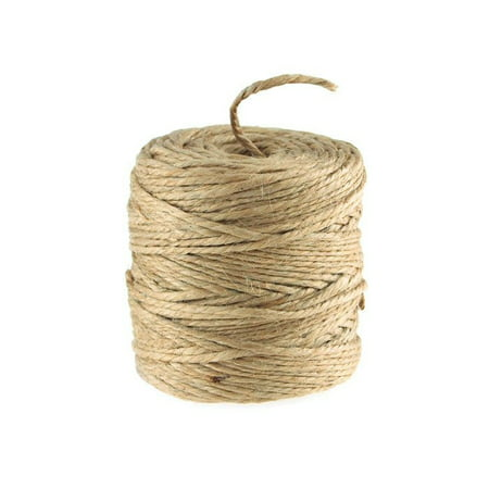 Burlap Jute Twine Rope 2-Ply, 3mm, 100 Yards, Natural