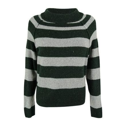 Free People Women's Long Sleeves Wool Blend Striped Bubble Sweater